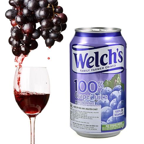 Nước Nho ép Welch's 100% nguyên chất 340ml Nhập khẩu Mỹ