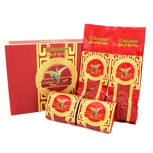 Hộp quà trà Oolong Tâm Châu 4 gói 100g
