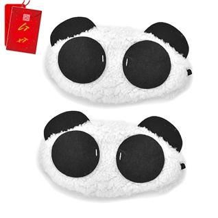 Cùng Mua - Combo 2 mieng che mat ngu Eye Mask hinh gau Panda (li xi tet)