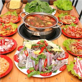 Cùng Mua - Buffet Lau Hoac Nuong tai Lau Nuong Duong Tau - Menu hap dan