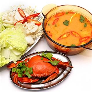 Cùng Mua - Combo lau chua cay 01 cua nguyen con cho 2-3 nguo - Ut Kiet