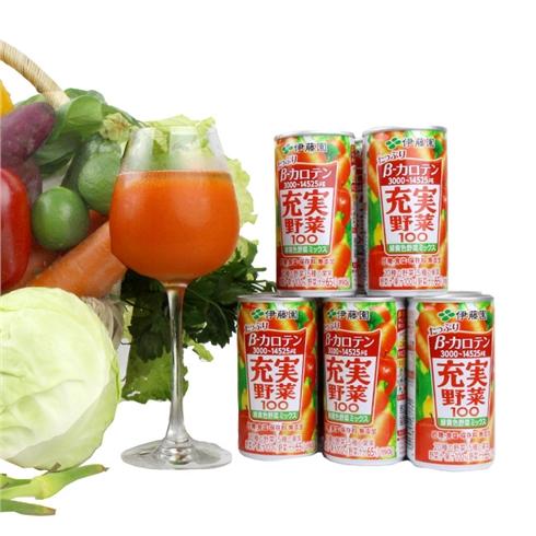 Vỉ 5 lon/ 1 Thùng (20 lon) nước ép hoa quả Itoen Nhật Bản