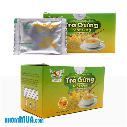 Combo 2 hộp trà gừng mật ong Sing Việt bảo vệ sức khoẻ (40g)