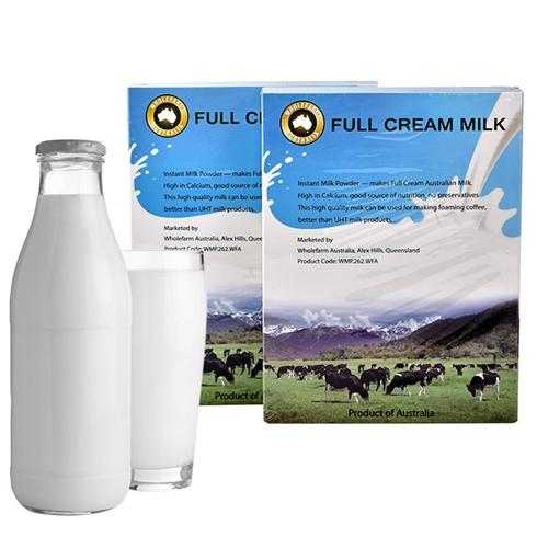 Combo 2 hộp bột sữa tươi nguyên kem đa năng WholeFarm từ Úc