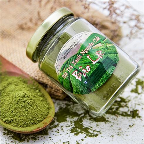 Bột trà xanh Oolong nguyên chất (100g) + bộ đắp mặt inox