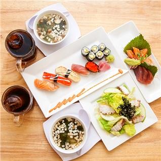 Cùng Mua - Set Sashimi - Sushi chat luong cho 2 nguoi tai Nha hang C9