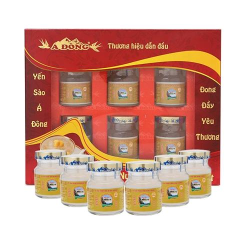 Yến nước chưng đường isomatl (6 hũ/lốc) hiệu Á Đông