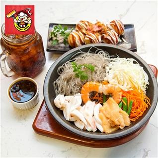 Cùng Mua - Mien xeo hai san + vien bach tuoc Takoyaki - Topokki House