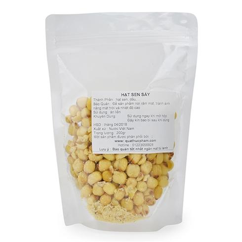 Bịch 200g hạt sen sấy giòn hàng Việt Nam
