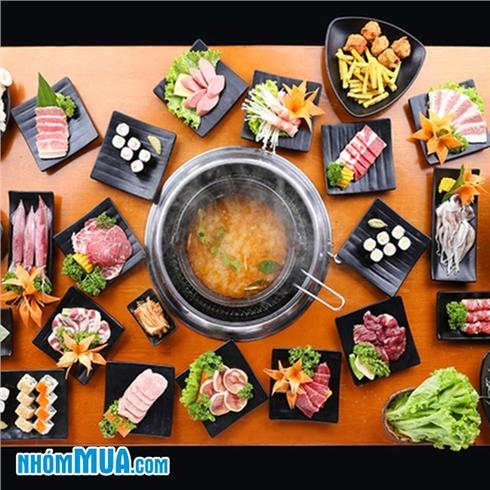 Buffet lẩu và sushi phục vụ tại bàn - Free Pepsi tại Yaki