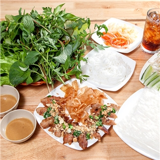 Cùng Mua - Nem nuong + 2 nuoc sam + 2 khan lanh - Tan Huong Nam Quan
