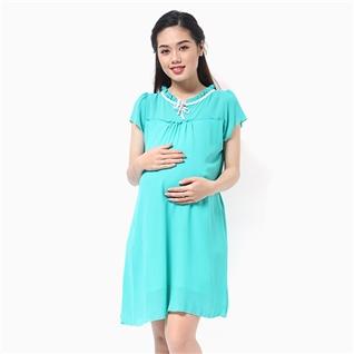 Cùng Mua - Dam bau nhun beo vien co mau xanh lam MS01