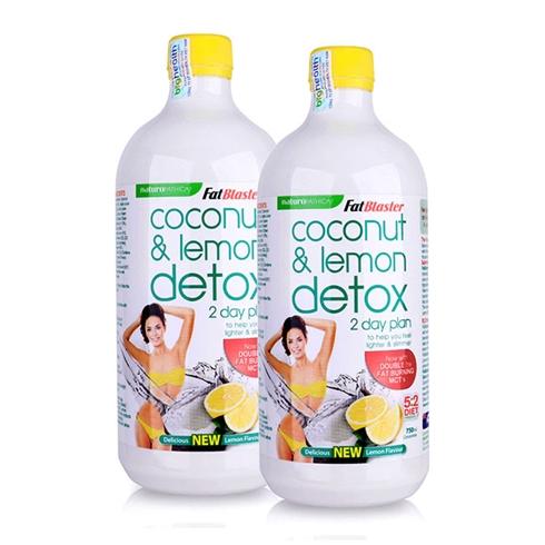 Combo 2 chai nước uống giải độc tố hương chanh 750ml/chai
