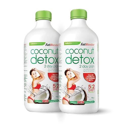 Combo 2 chai nước uống giải độc tố hương dừa 750ml/chai