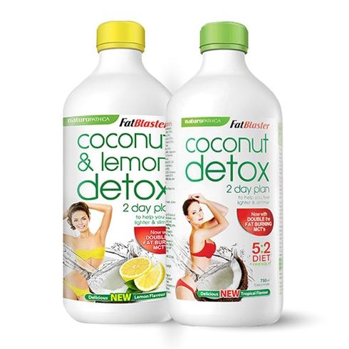 Combo 2 chai nước uống giải độc tố vị dừa và dừa chanh
