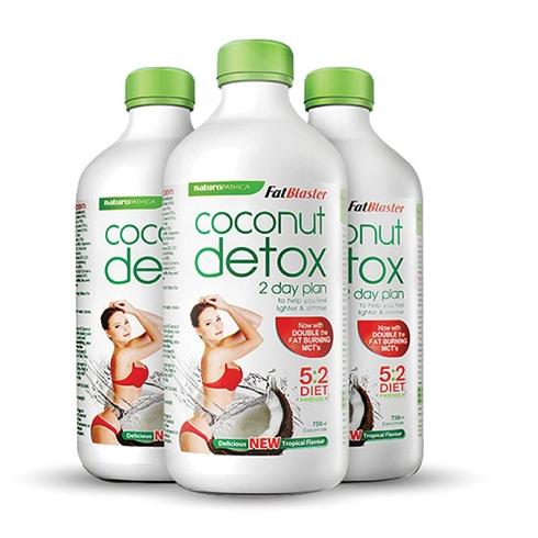 Combo 3 chai nước uống giải độc tố hương dừa 750ml/chai
