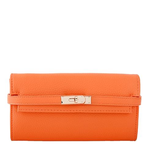 Ví cầm tay khóa thời trang TN011 màu cam