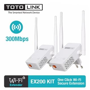 Cùng Mua - Thiet bi mo rong song WiFi TOTOLINK EX200 KIT (Trang)