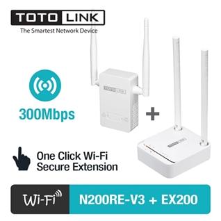 Cùng Mua - Bo phat WiFi TOTOLINK N200RE-v3 va kich song TOTOLINK EX200