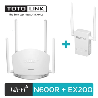 Cùng Mua - Bo phat WiFi Router TOTOLINK N600R va Kich song Wifi EX200