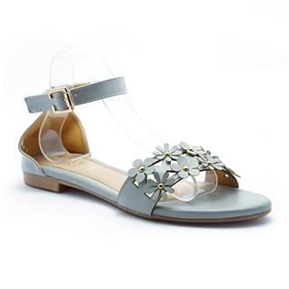 Cùng Mua - Giay sandal nu ket hoa Princess P31X mau xam ghi