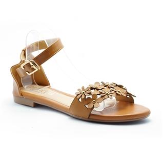 Cùng Mua - Giay sandal nu ket hoa Princess P31N mau da bo