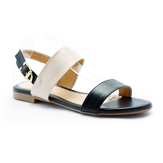 Cùng Mua - Giay sandal nu thoi trang Princess P42D mau den phoi kem