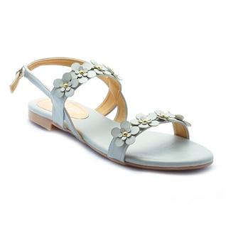 Cùng Mua - Giay sandal nu ket hoa Princess P24X mau xam ghi