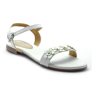 Cùng Mua - Giay sandal nu ket hoa Princess P25T mau trang