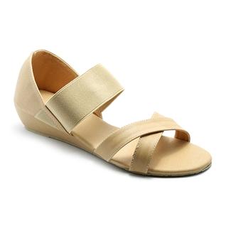 Cùng Mua - Giay sandal nu quai thun Princess P10K mau nude