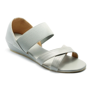 Cùng Mua - Giay sandal nu quai thun Princess P10X mau xam ghi