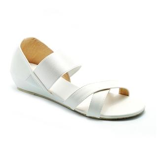Cùng Mua - Giay sandal nu quai thun Princess P10T mau trang