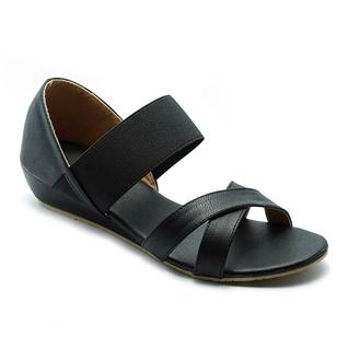 Cùng Mua - Giay sandal nu quai thun Princess P10D mau den