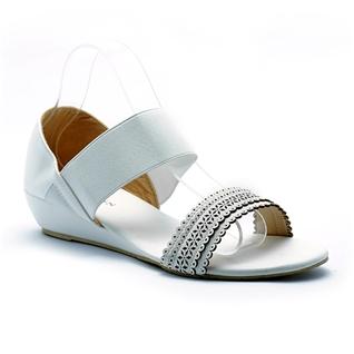 Cùng Mua - Giay sandal nu quai thun Princess P34T mau trang