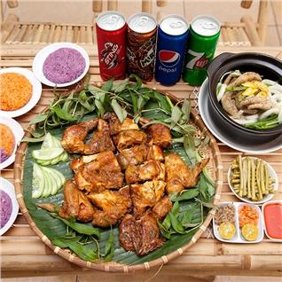 Cùng Mua - Thuong thuc combo ga nuong (nguyen con) hap dan tai Ga Khuyet