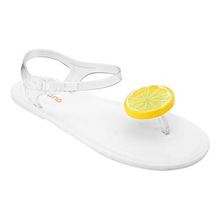Cùng Mua - Giay sandal nhua thai mau trang hinh lat chanh