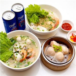Cùng Mua - 2 Hu tieu mi+1 Dimsum tu chon+ 2 ly nuoc ngot-My Vi Hong Kong