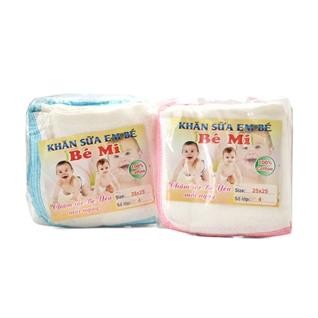 Cùng Mua - Combo 2 bich khan sua cotton 4 lop Be Mi cho be (25 x 25 cm)