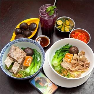 Cùng Mua - Combo mi suon + 1 phan nam + 1 soda Blueberry - Mi Suon Bo