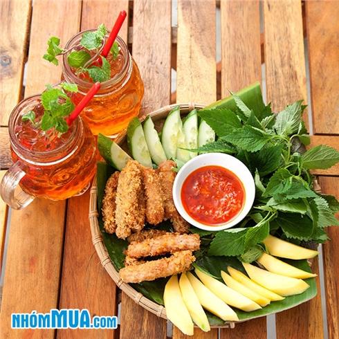 Mẹt nem chua rán + 2 trà bạc hà 2 người (Giá sốc)- Hanoifoods