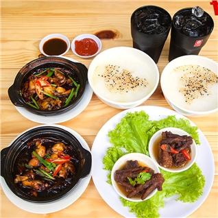 Cùng Mua - Combo 2 phan chao ech Singapore + 2 cap chan ga + 2 phan nuoc