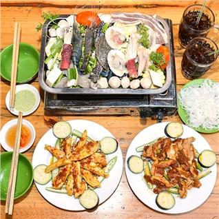 Cùng Mua (off) - Combo Lau hai san + Do nuong + 2 Ly nuoc ngot - Lau Kong