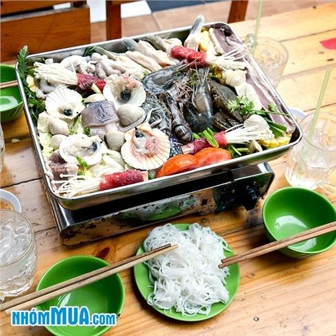 Combo Lẩu hải sản lớn + 04 ly nước ngọt tại Lẩu Kong