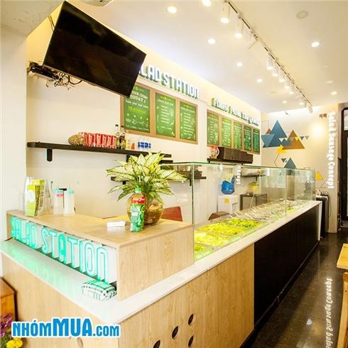 Combo salad và nước ép tự chọn bổ dưỡng tại Salad Station