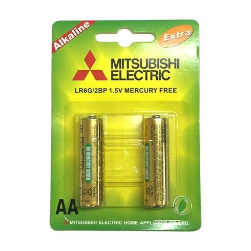Pin 2A Alkaline Misubishi 2 viên / vỉ