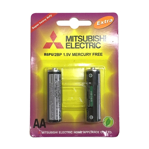 Pin 2A Carbon ZINC Mitsubishi 2 viên / vỉ
