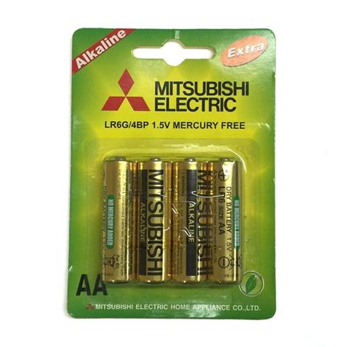 Pin 2A Alkaline Mitsubishi 4 viên / vỉ