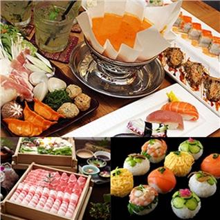 Cùng Mua - Buffet Trua va Toi Sushi va Lau Giay + Nuoc Ngot - TABE Houdai