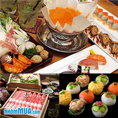 Buffet Trưa và Tối Sushi và Lẩu Giấy + Nước Ngọt - TABE Houdai