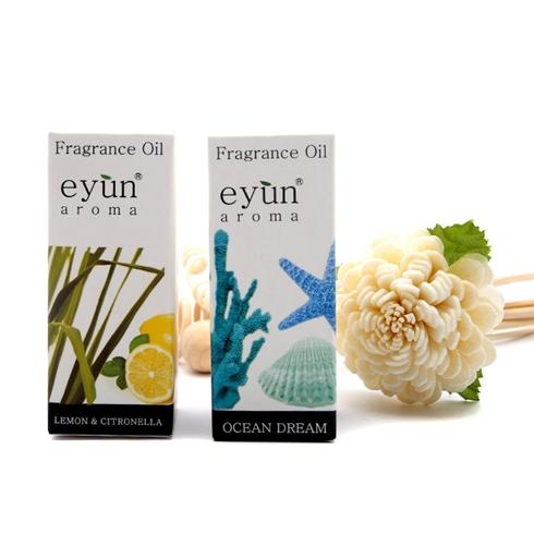 Combo 2 chai tinh dầu Eyun 10ml hương xả chanh và gió biển